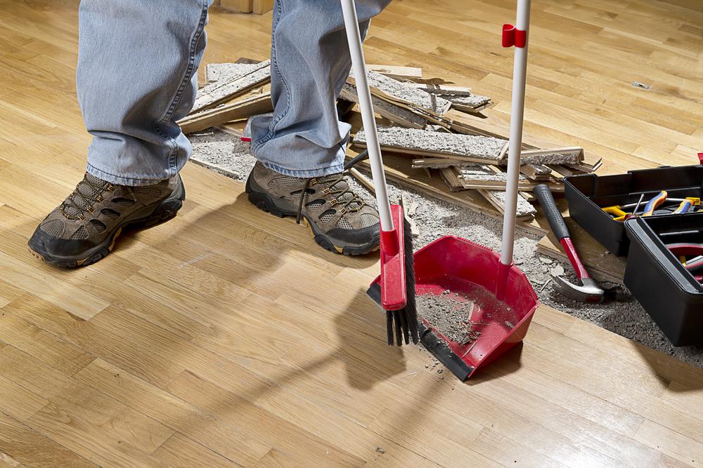 Como fazer uma eficiente limpeza de obra